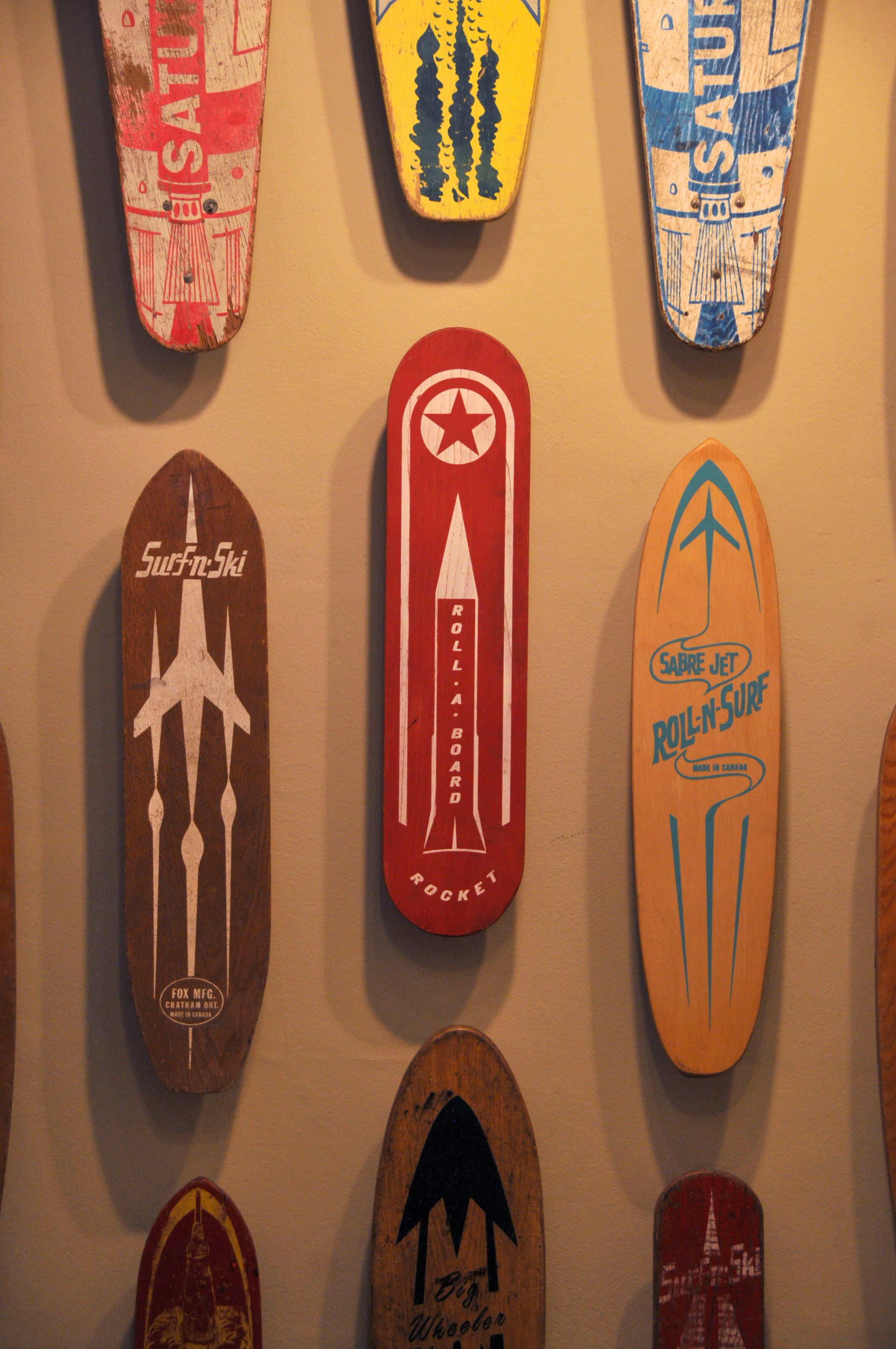 Vintage skate boards apologise