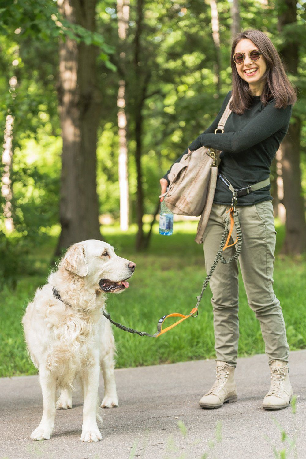 Hands Free Dog Leash For Running Heavy Duty Extra Long Bungee