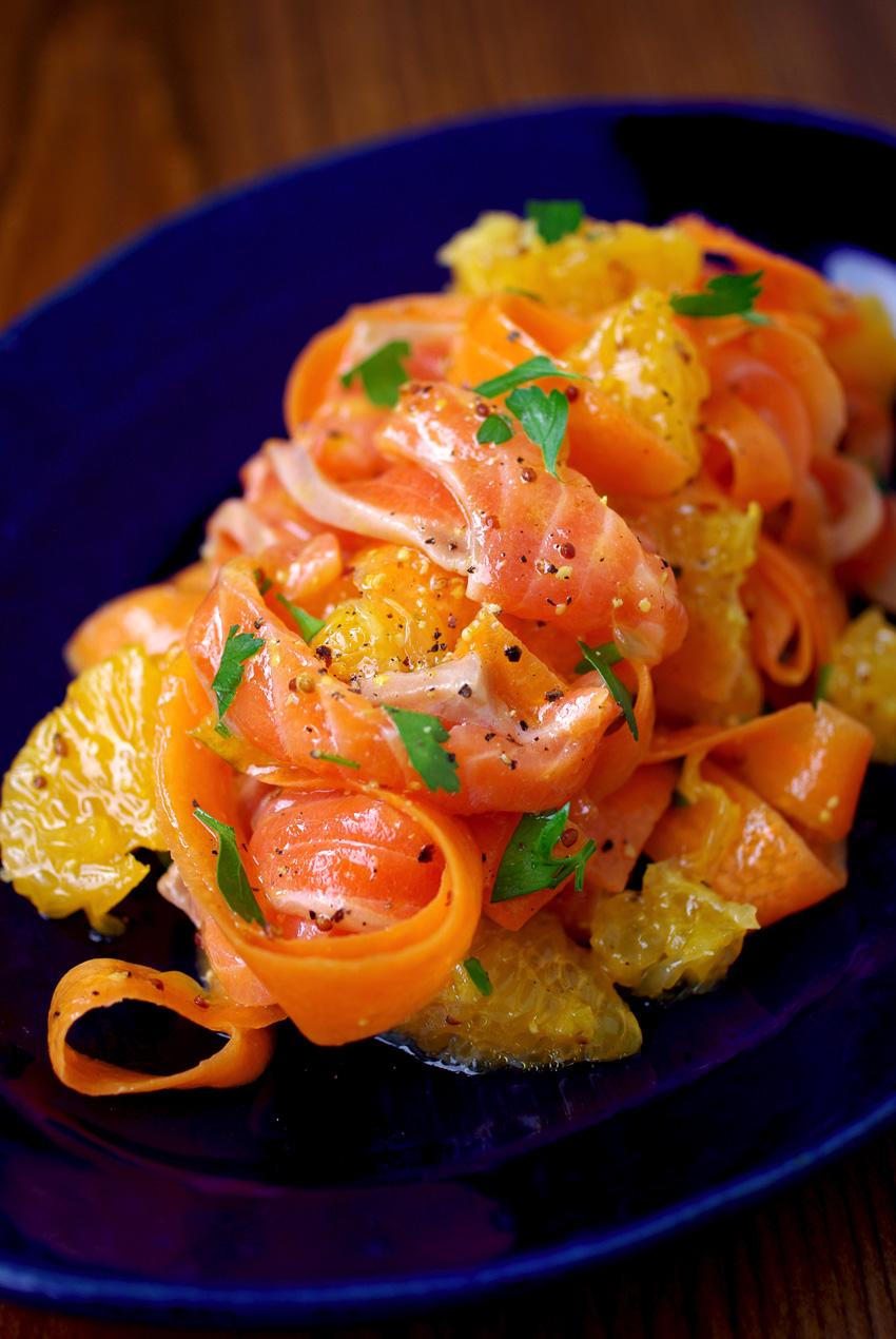 キレイになれる!? サーモンと清美オレンジ&にんじんのサラダ♪ : Osteria poppo へようこそ