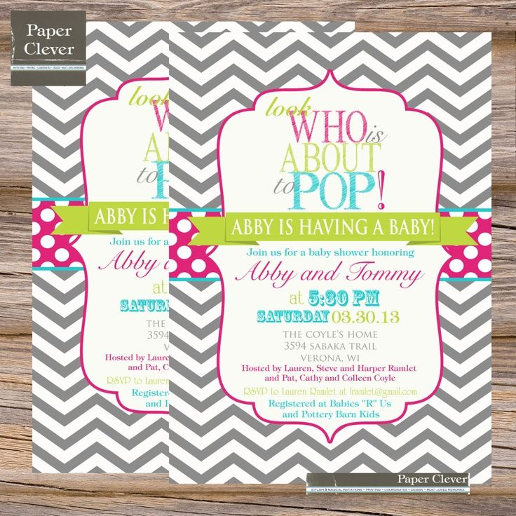 www.pinterest.com | Invitation | Pinterest | Shower invitations and ...
