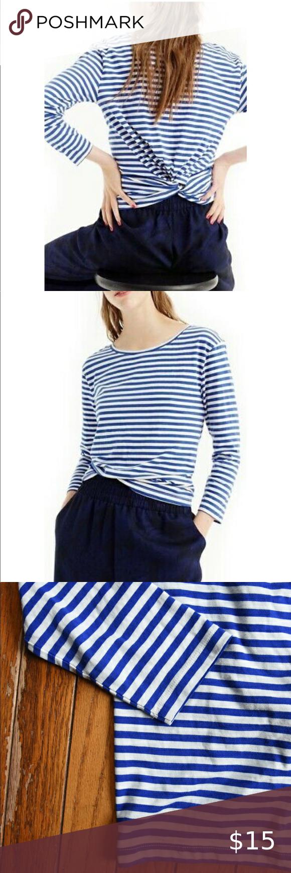 J Crew Black Label Clothes Design White Stripes Top Striped Top