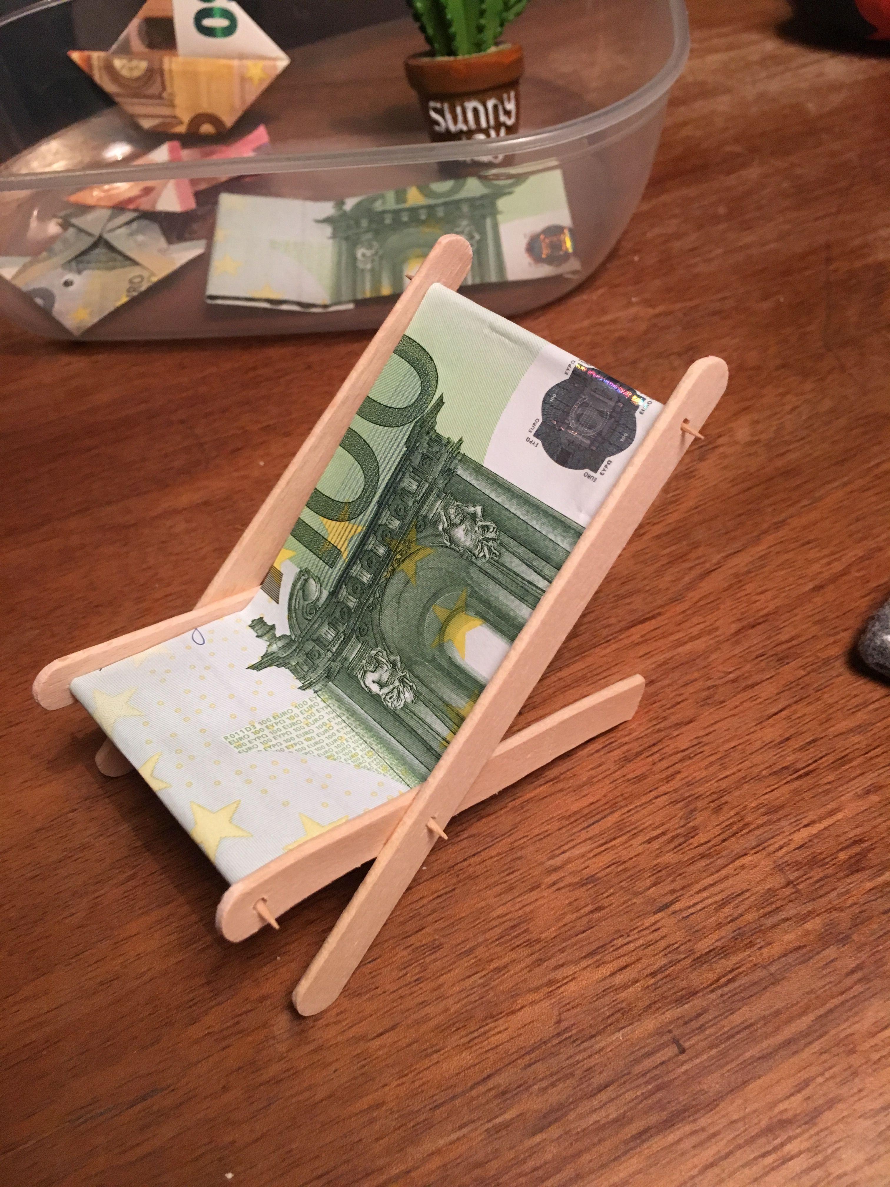 geldgeschenk liegestuhl hochzeit urlaub Bf Geldgeschenke, Geldgeschenke verpacken urlaub und  ~ 01153827_Liegestuhl Basteln Mit Geldschein