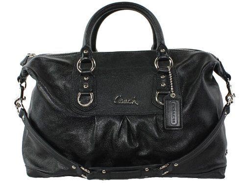 Coach Leather Large Ashley Sabrina Duffle Satchel Bag Purse Tote ...