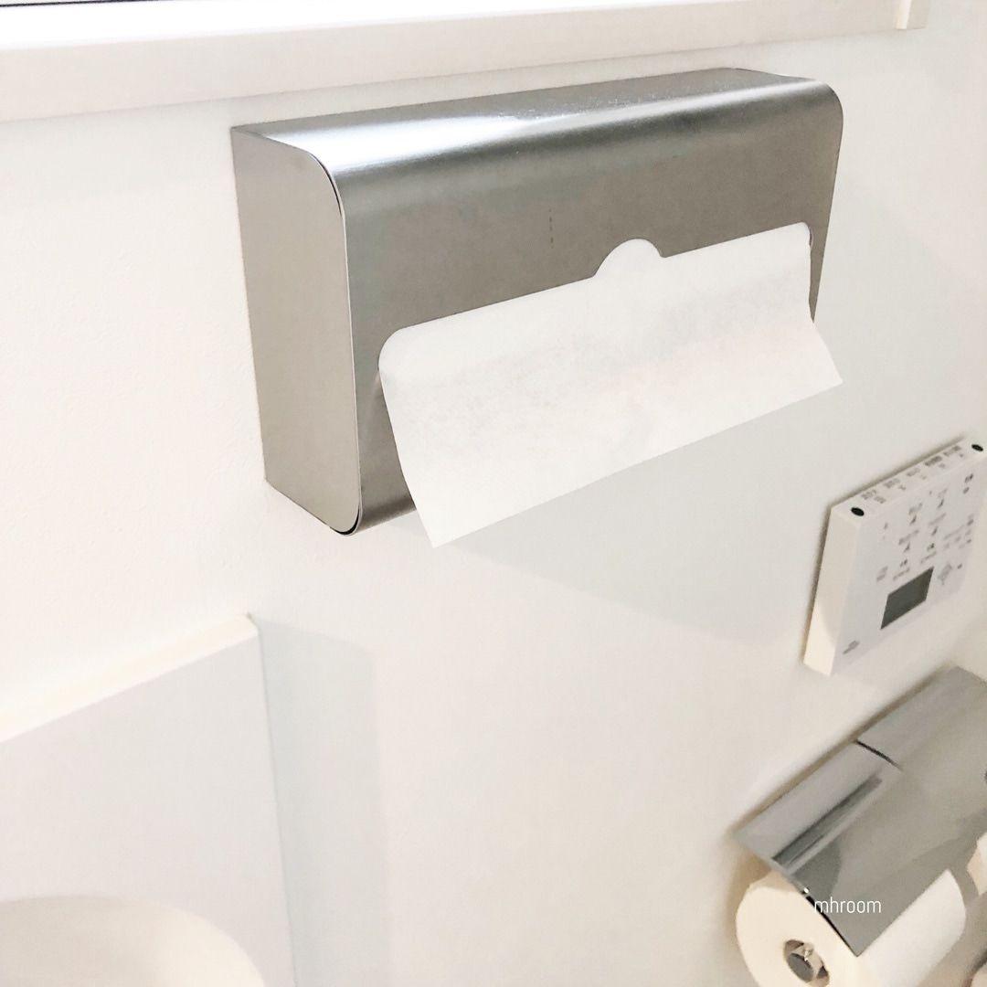 トイレはタオル派 ペーパータオル派 2年越しでやっと見つけたお洒落で機能的な納得アイテム トイレ トイレ インテリア ペーパータオル