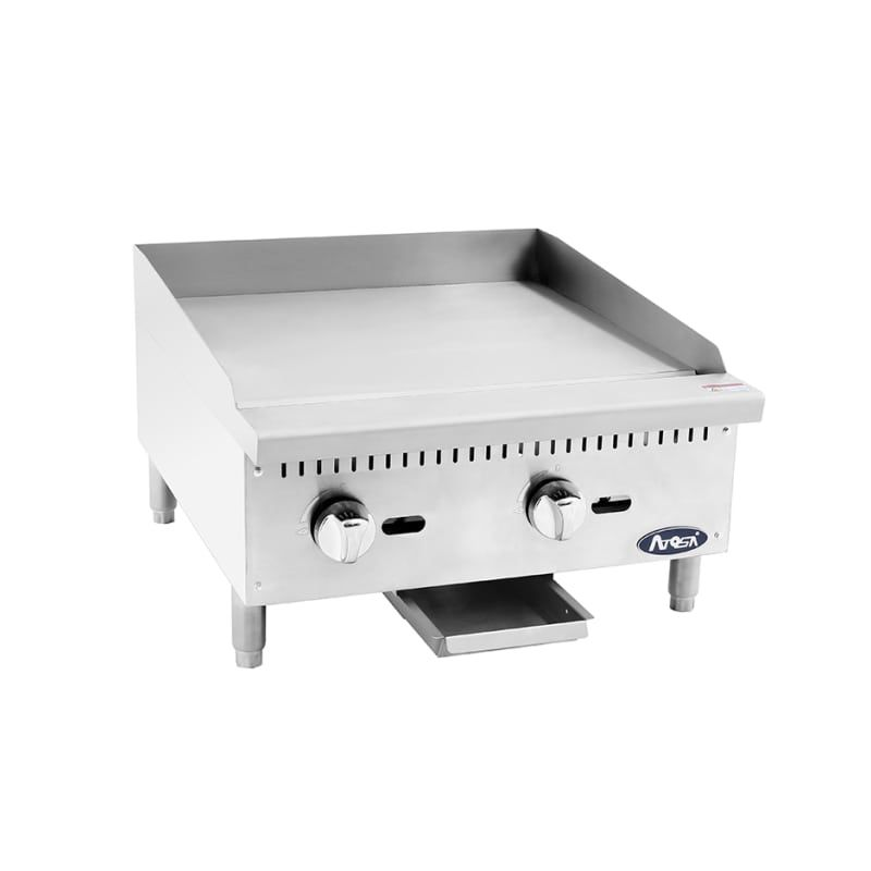 Atosa Atmg24 24 Inch Wide Commercial Gas Griddle Commercial
