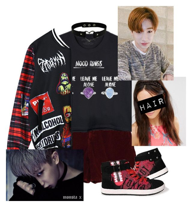 """""""You don't care you never did~Wonho!"""" by pieeella ❤ liked on Polyvore featuring Chicnova Fashion and Hershesons"""