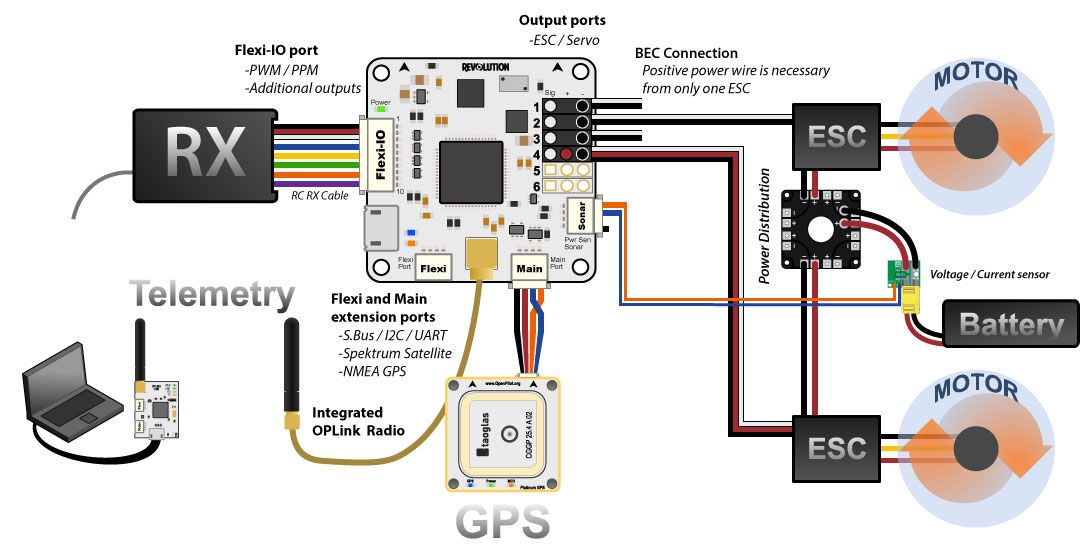 complete wiring diagram for openpilot revo flight controller rh pinterest com revo scooter wiring diagram hilux revo wiring diagram