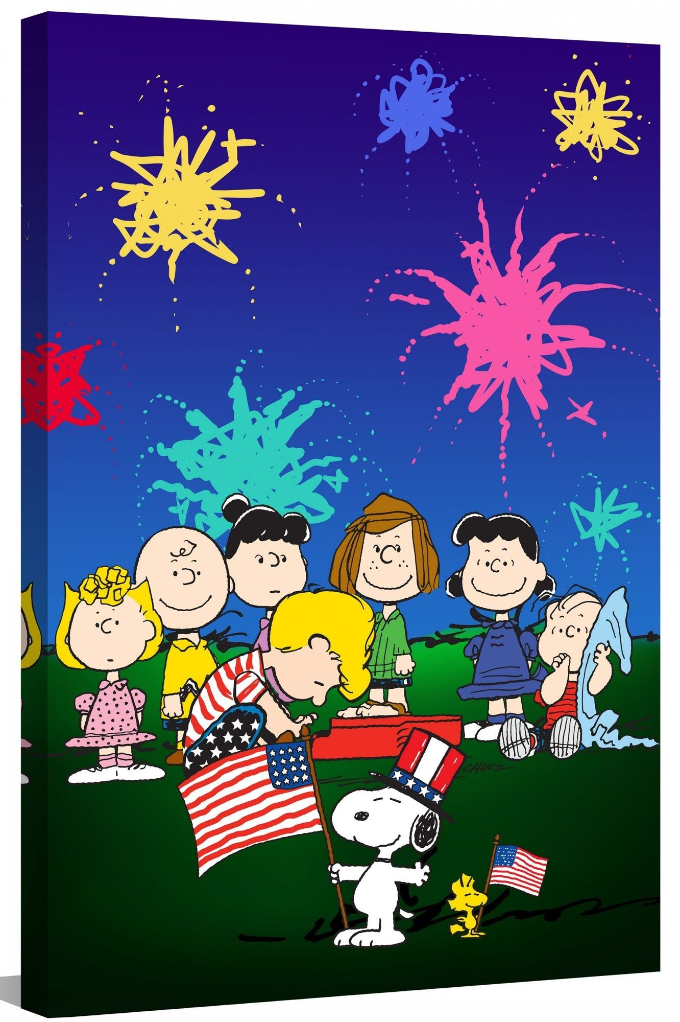 Peanuts Fourth Of July Peanuts By Charles M Shultz Graphic