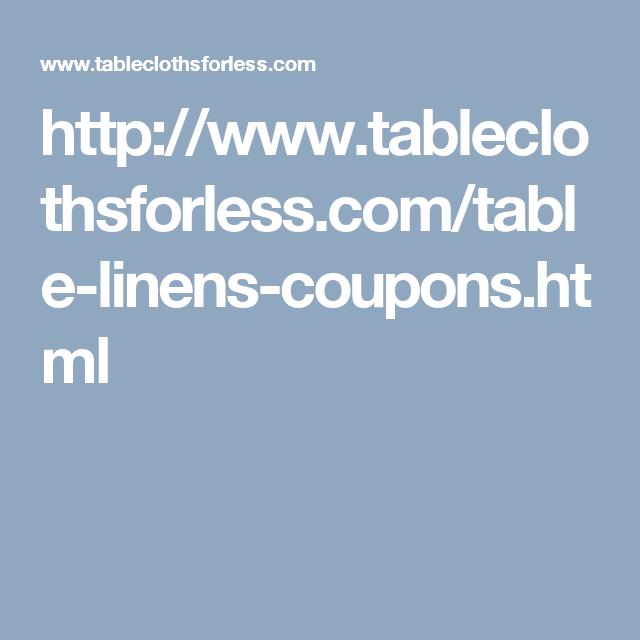 Tableclothsforless Discount Coupon Codes Tableclothsforless Com