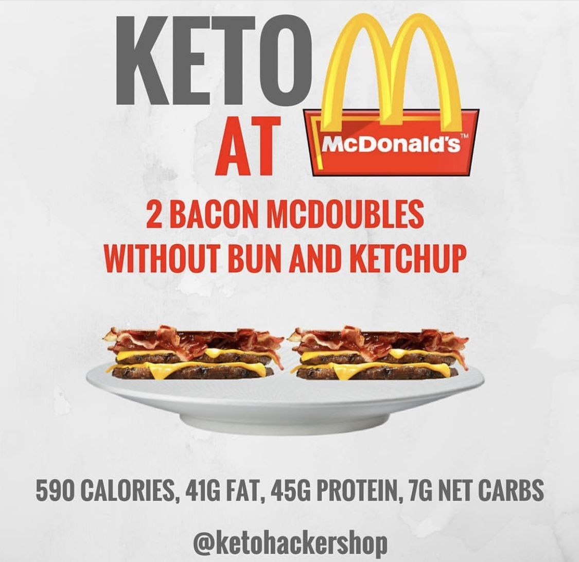 ¿Puedes comer McDonalds en una dieta ceto?