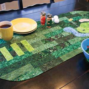 Fore!: Golf Theme Table Runner Quilt Pattern Designed by SUE ... : golf quilt patterns - Adamdwight.com