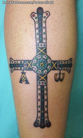 Tatuaje De Cruces Asturias Tatuajes Tattoos Pinterest