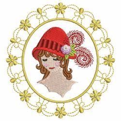 Red Hat Lady 04 machine embroidery designs
