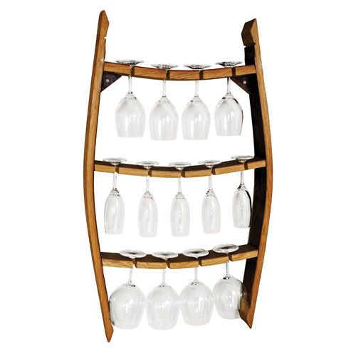Restaurant Serving Tray Wall Mount Holder Brown Barrel