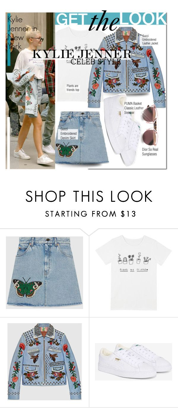 """Get The Look: Kylie Jenner"" by el-khawla on Polyvore featuring Gucci, Kendall + Kylie, Puma, Christian Dior, GetTheLook, NYC, Stealherstyle and KylieJenner"