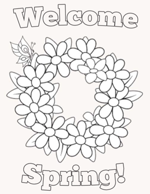 14 Places to Find Free, Printable Spring Coloring Pages | 388x300