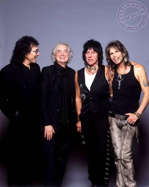 Tommy Iommi, Jimmy Page, Beck and Steven Tyler