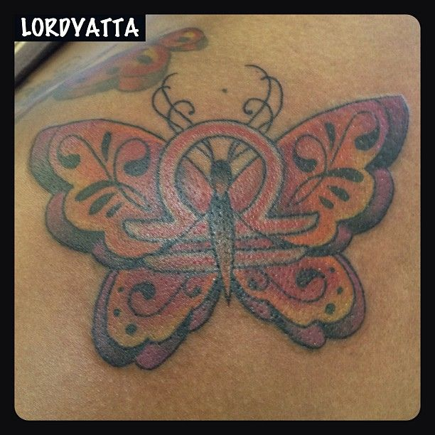 f259427a4 finished #libra #flutterby #butterfly #tattoo s/o @curvyqueen thanks again
