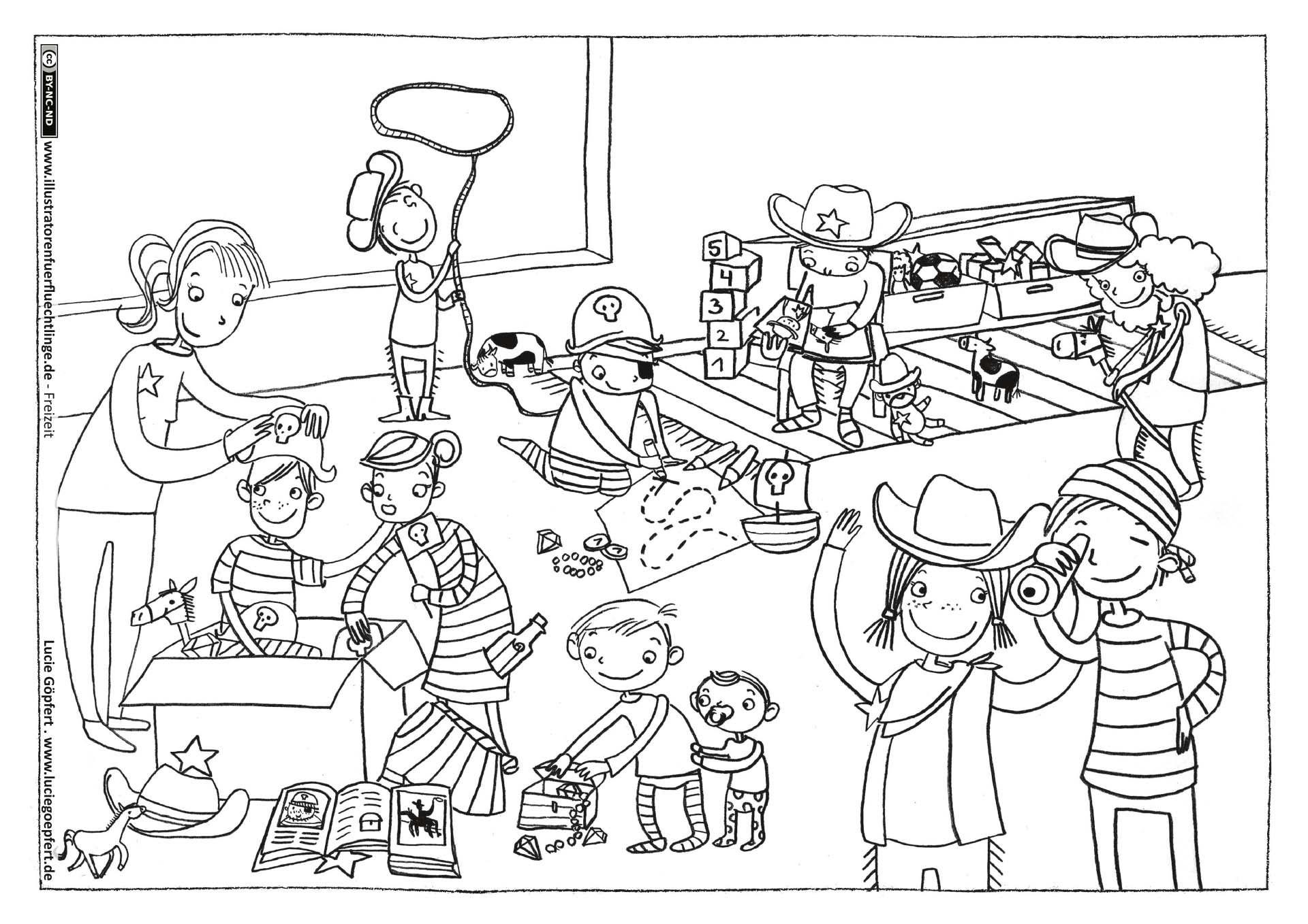 verkleiden spielen cowboys piraten  piraten illustrator