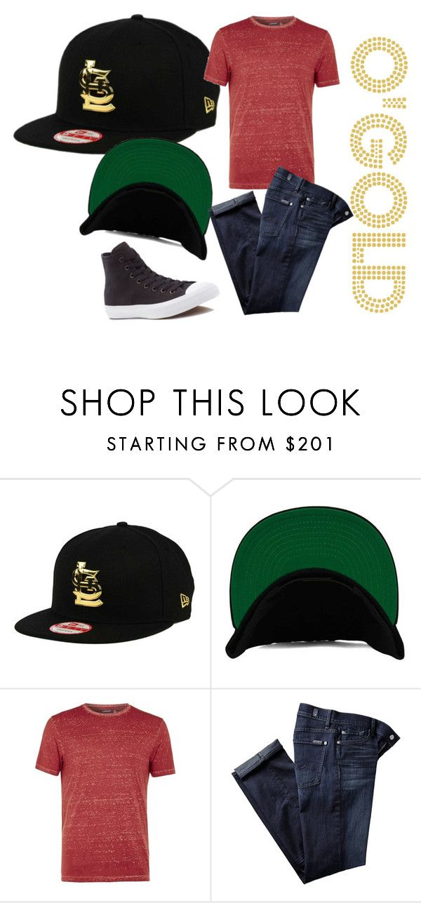 """""""This Is The Cap"""" by lids4hats on Polyvore featuring Topman, 7 For All Mankind, Converse, men's fashion and menswear"""