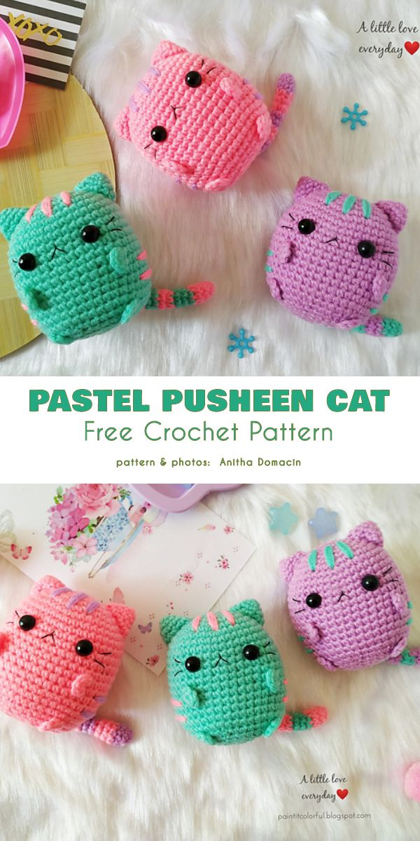 Pusheen Collection Free Crochet Patterns