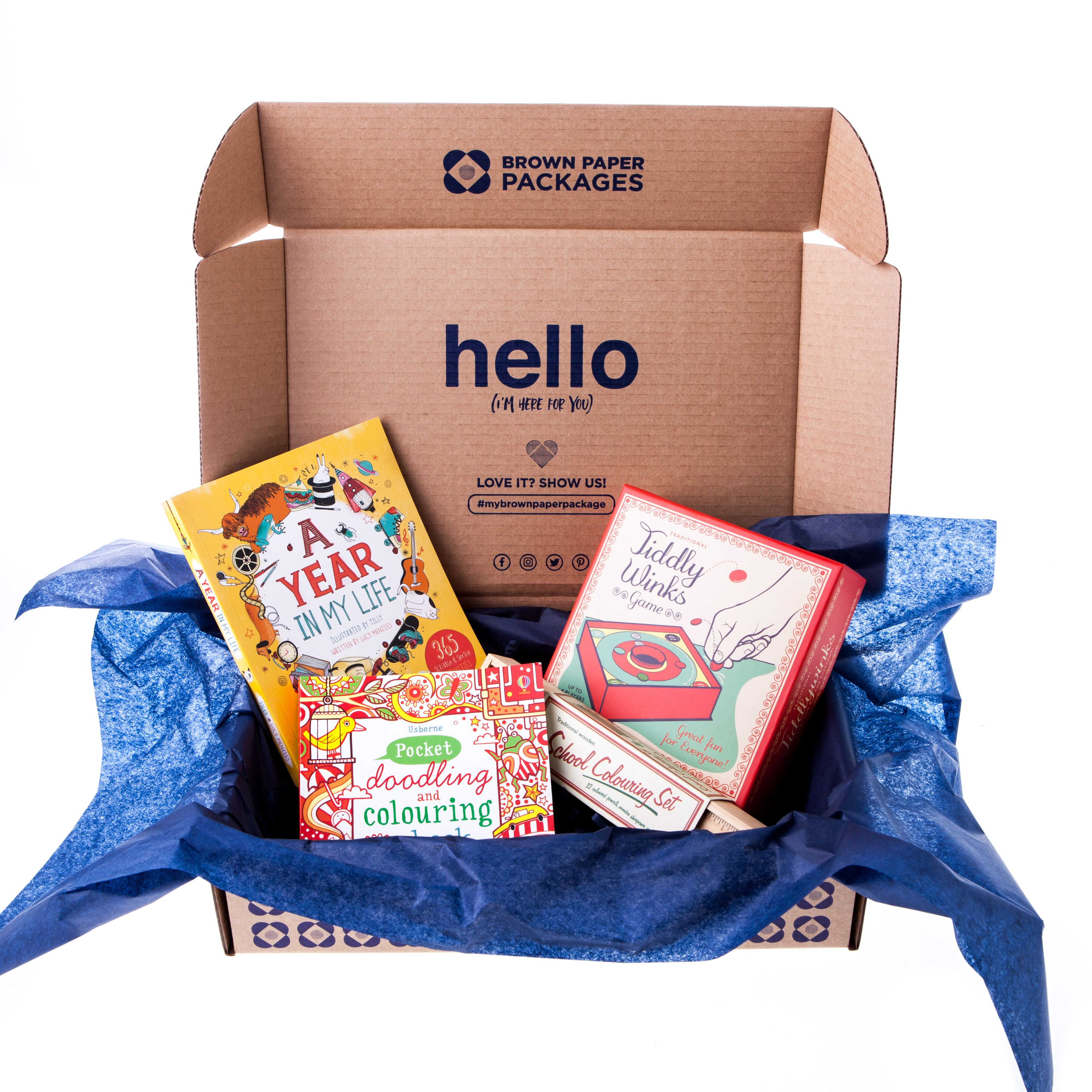 Be creative gift box brown paper packages creative