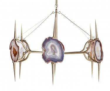 agate chandelier