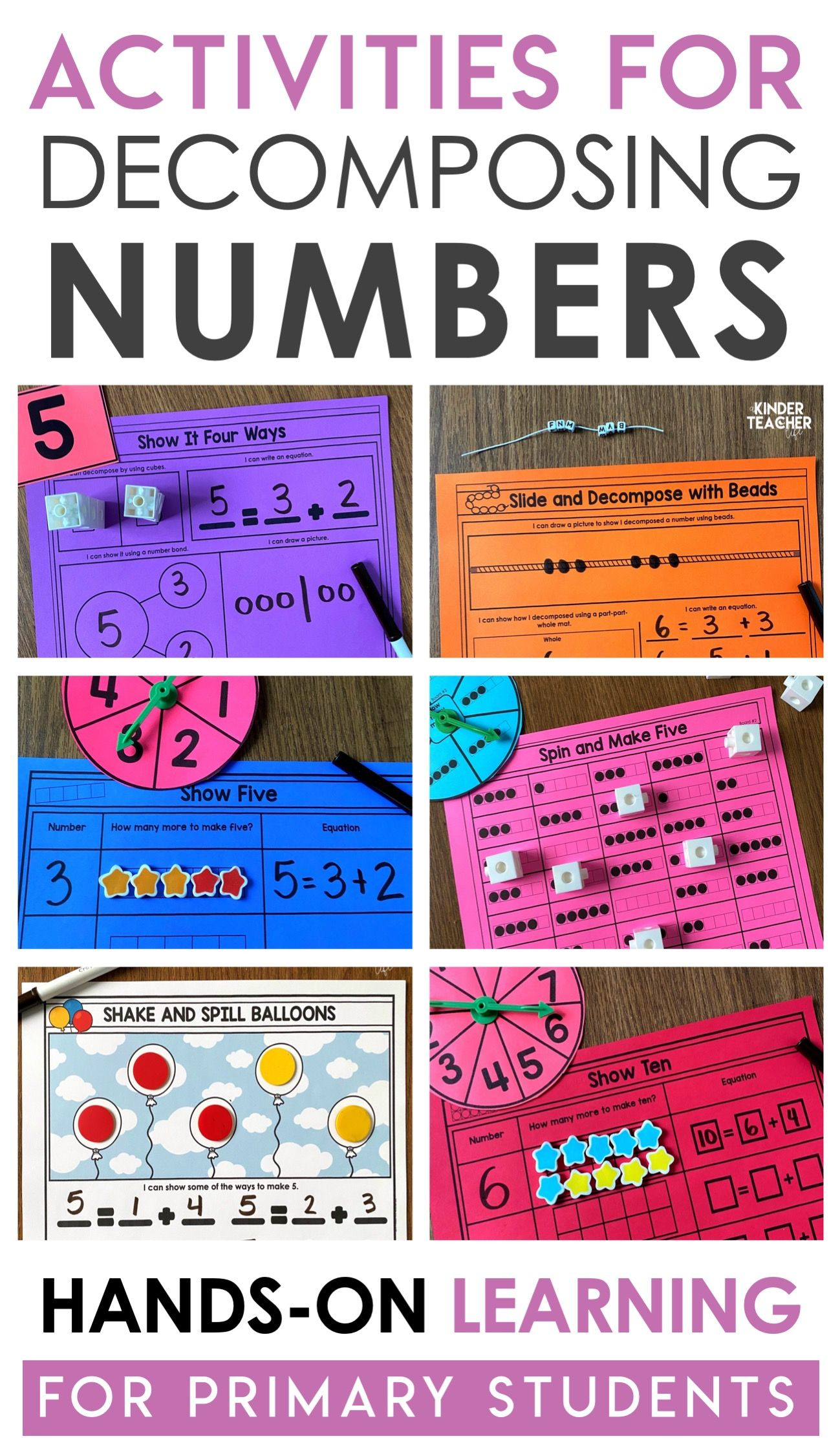 More Decomposing Numbers Activities