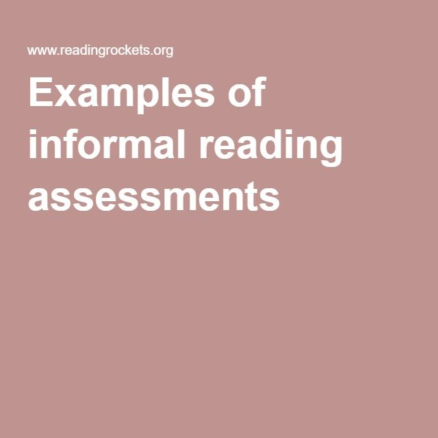 Informal Assessment Example Learning To The Core Assessment Ways To