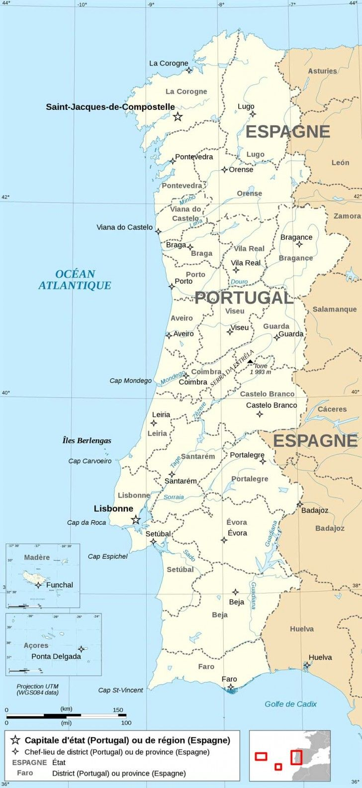 Map of Portugal-Lisbon | Places I\'ve been to in 2019 | Portugal, Map ...