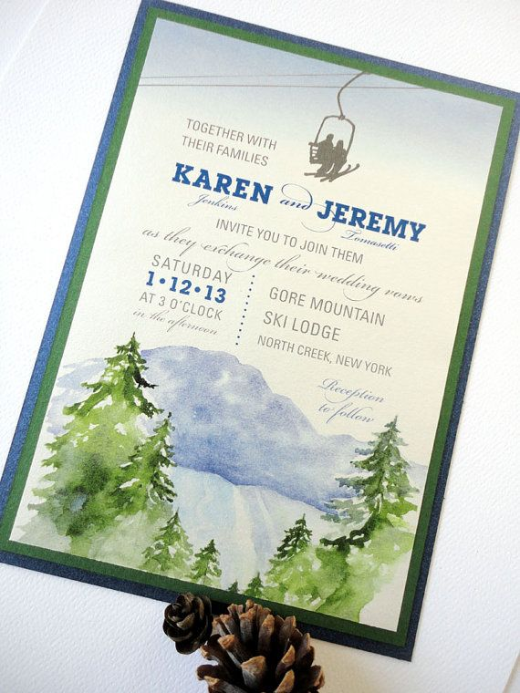 SAMPLE - Ski Lodge Wedding Invitation Wedding Pinterest - sample wedding brochure