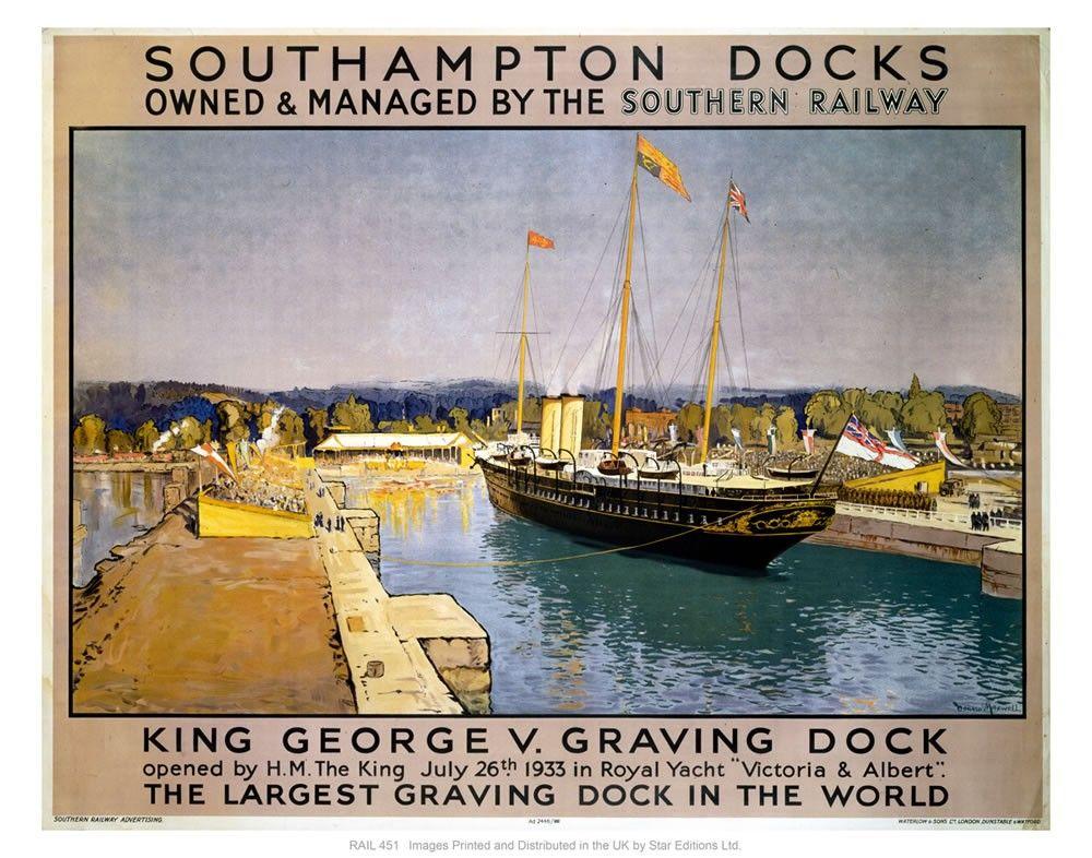 Southampton docks Art Print