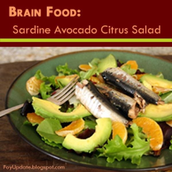 Brain food sardine avocado citrus salad recipe for paleo or wahls brain food sardine avocado citrus salad recipe for paleo or wahls diet or anyone forumfinder