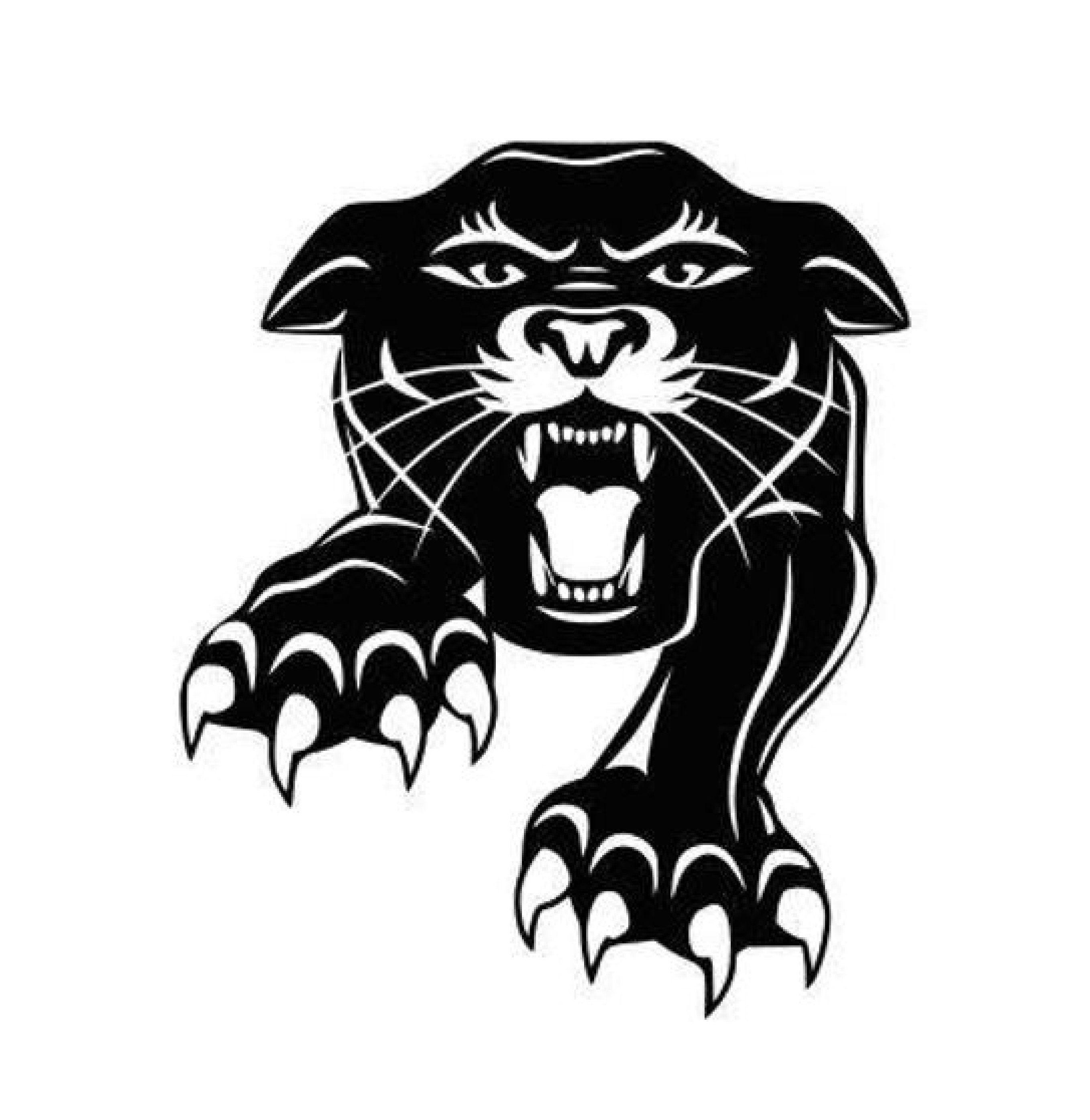Panthers Decal Sticker Mascot High School Sport Football Basketball Baseball Softball Car Truck Tatuagem De Pantera Preta Tatuagem De Pantera Producao De Arte [ 2790 x 2715 Pixel ]
