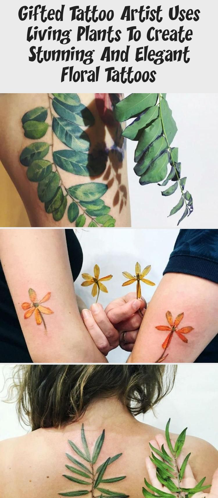 Photo of Gifted Tattoo Artist Uses Living Plants To Create Stunning And Elegant Floral Tattoos – Tattoos