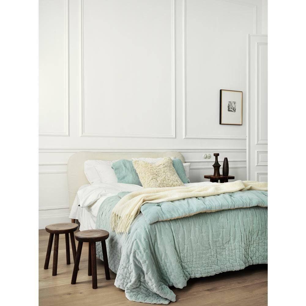 Plushious Velvet Bedspread in Duck Egg | Blue Velvet French Bedroom Throw - Artist Inspired Claude Monet