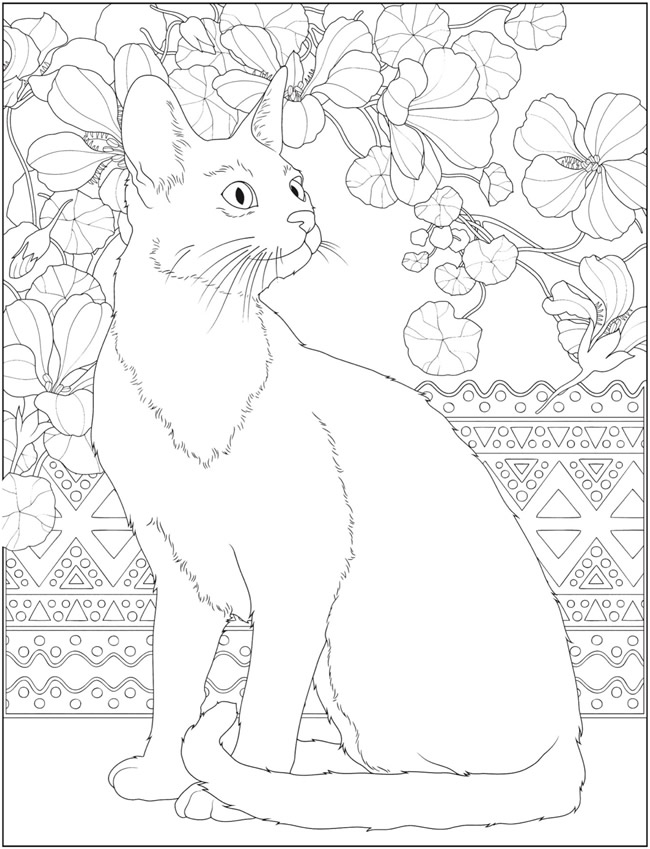 Welcome To Dover Publications Cat Coloring Page Animal Coloring Pages Abstract Coloring Pages