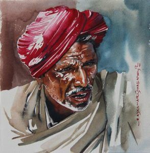 Watercolour Figures Painting Of India Rajkumar Sthabathy Best
