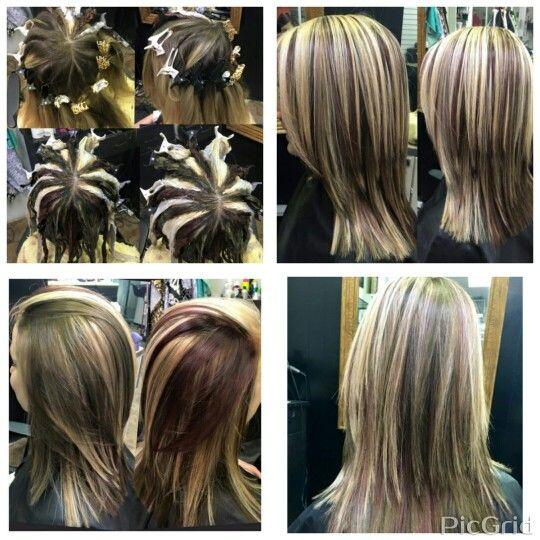 Pinwheel Hair Color Blonde Brunette And Natural Red Hairstylist Laurel C Pinwheel Hair Color Hair Color Techniques Blonde Hair Color
