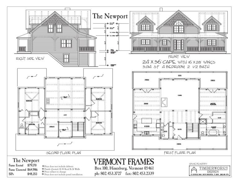 Post Beam Home Plans In Vt Timber Framing Floor Plans Vt Frames Floor Plans House Plans Timber Frame