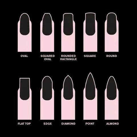 rounded rectangle  fall nail trends acrylic nail shapes