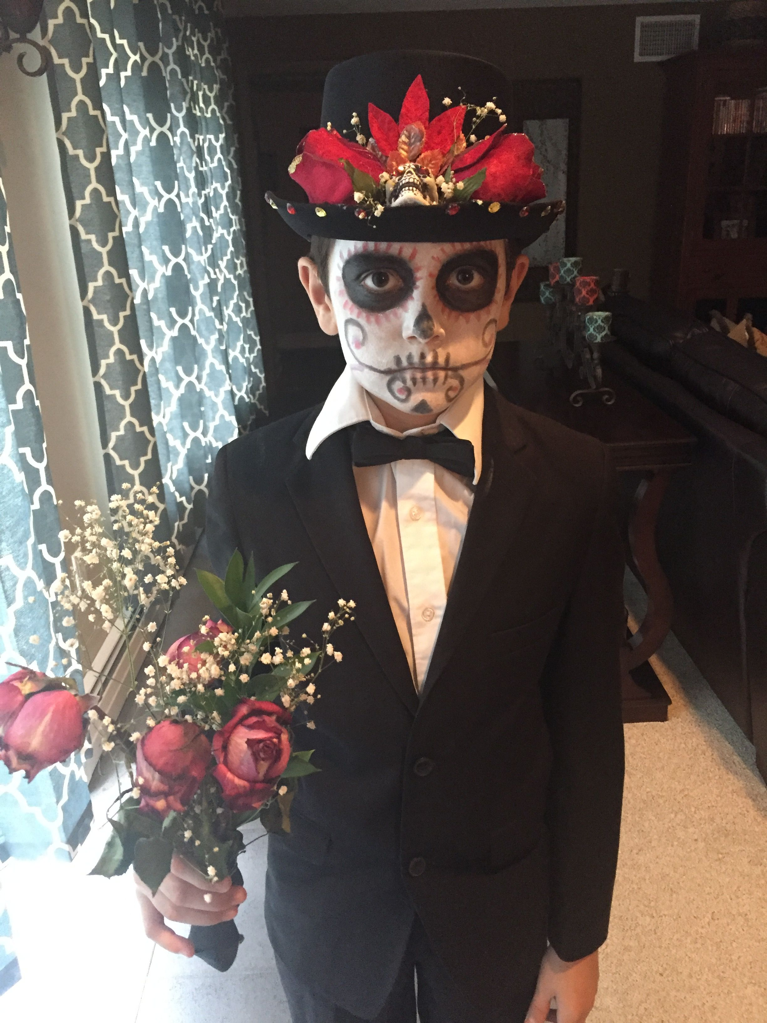 day of the dead boy costume and makeup idea for halloween #dayofdead