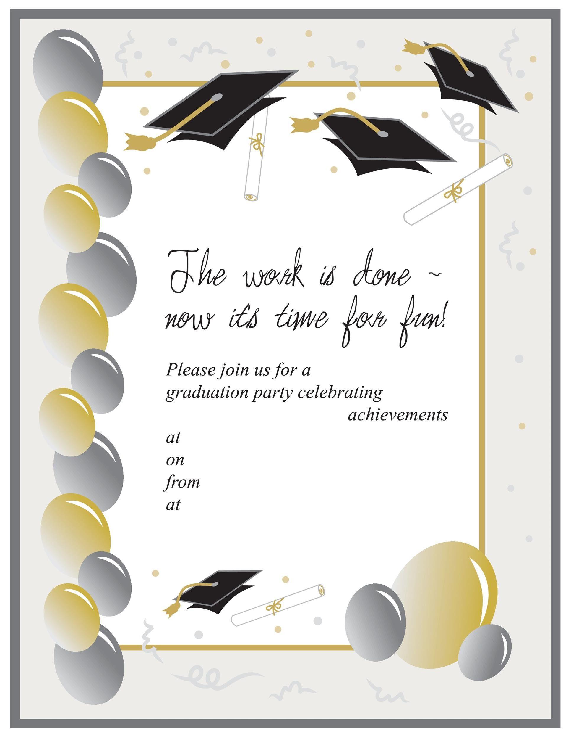 Graduation Ceremony Invitation Card Graduation Invitations Template Graduation Invitations Party Invite Template