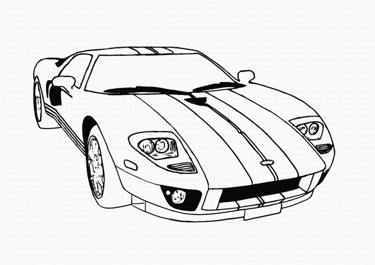Kids Coloring Pages Of Cars