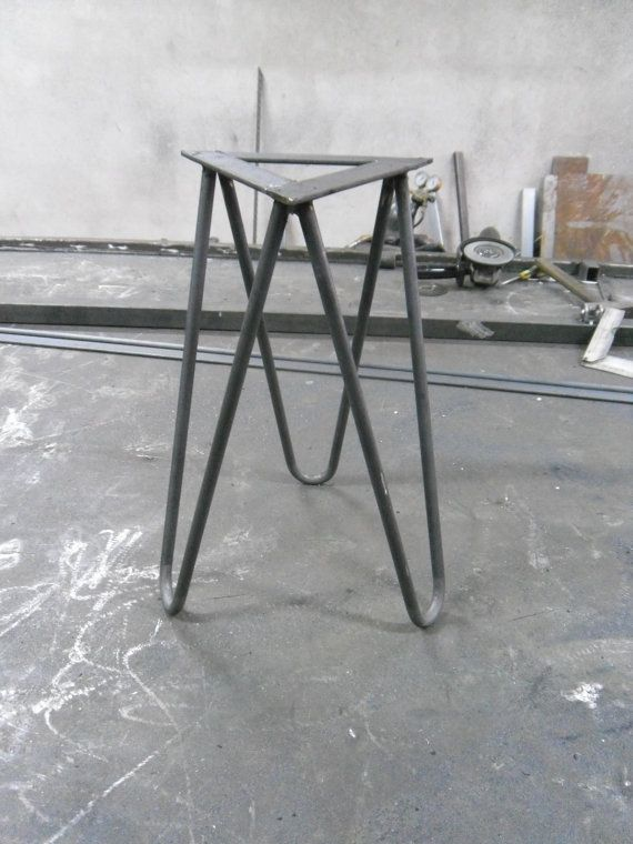 hairpin leg legs for stool chair table handmade von decorholz wood metal design pinterest. Black Bedroom Furniture Sets. Home Design Ideas