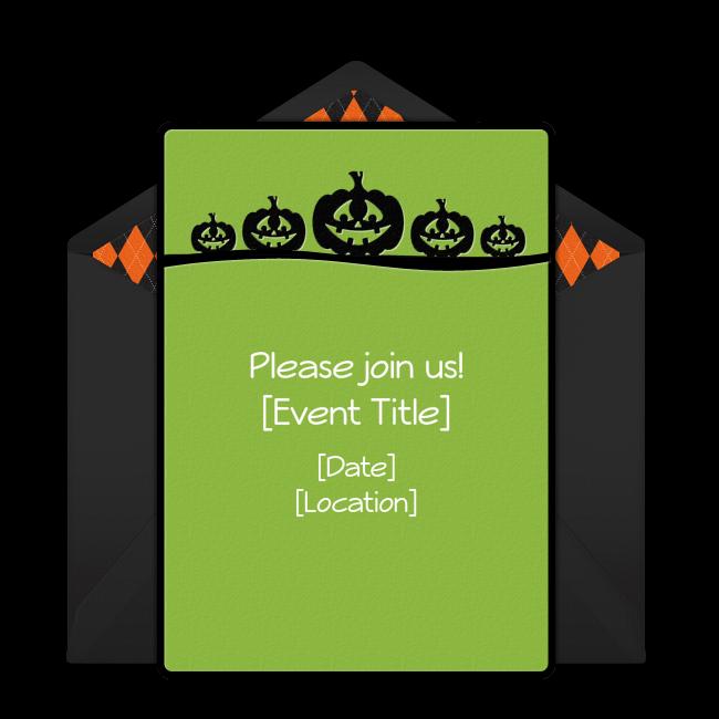 Free Happy Pumpkins Invitations Pumpkin Carving Pinterest