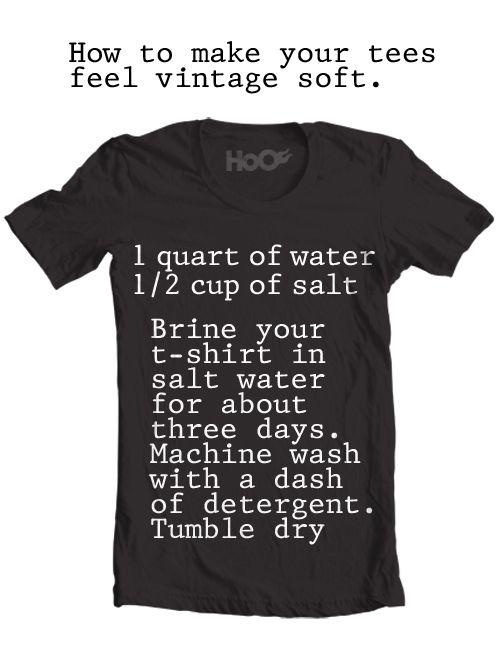 Make your tees vintage soft.