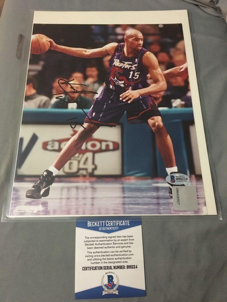 Vince Carter Signed 8 X 10 Photo - Beckett Coa Toronto Raptors NBA NCAA  (eBay Link) 3d9b43e43