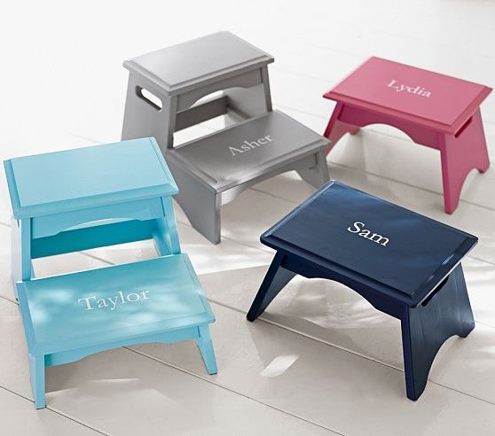 Admirable Personalized Step Stools Kids Stool Pottery Barn Kids Ibusinesslaw Wood Chair Design Ideas Ibusinesslaworg