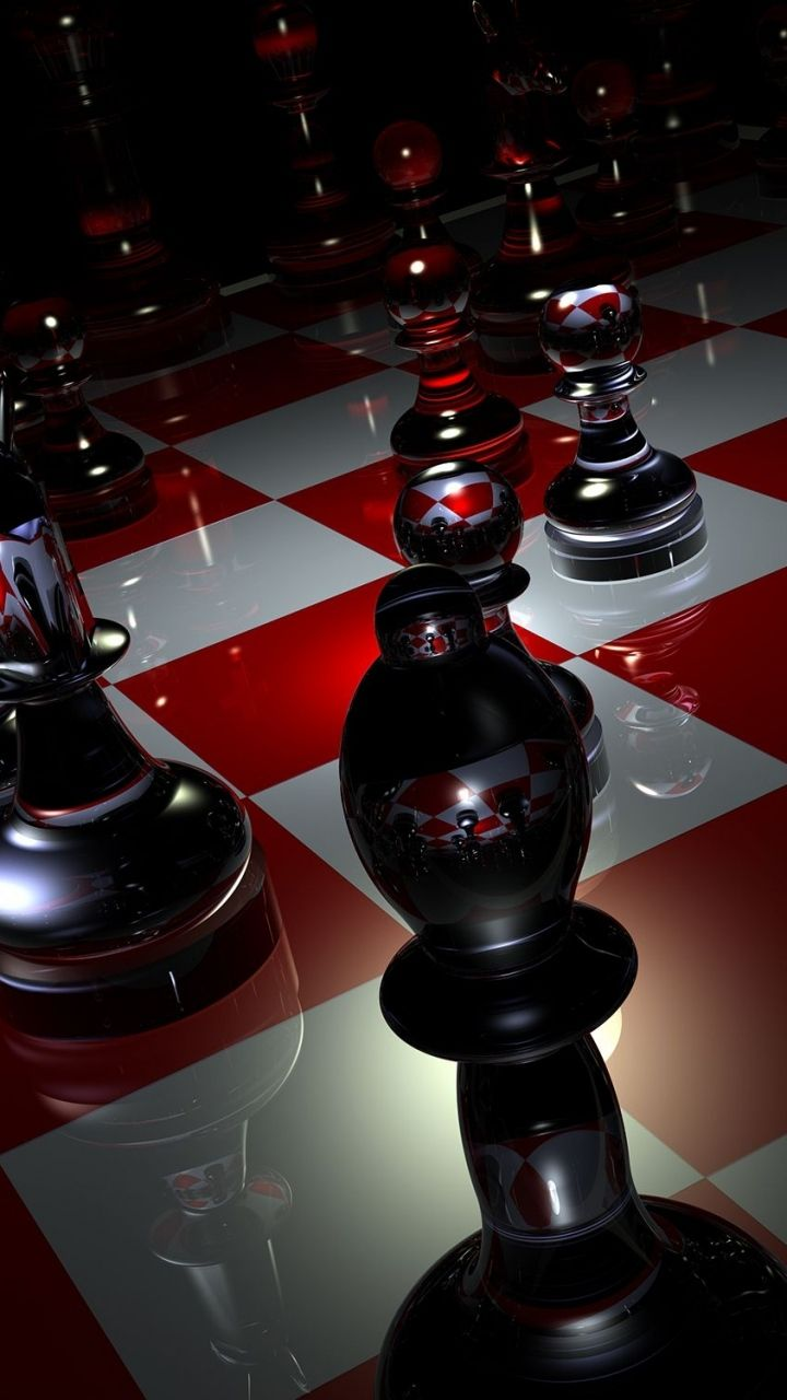 Download Wallpaper 720x1280 Pieces Chess Boards Glass Samsung Galaxy S3 HD Background